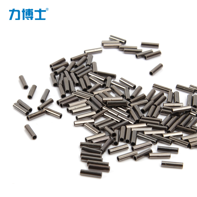 Fishing line sleeve copper pipe steel wire line fitted tube clip fishing tube 50 pcs / lot(China (Mainland))