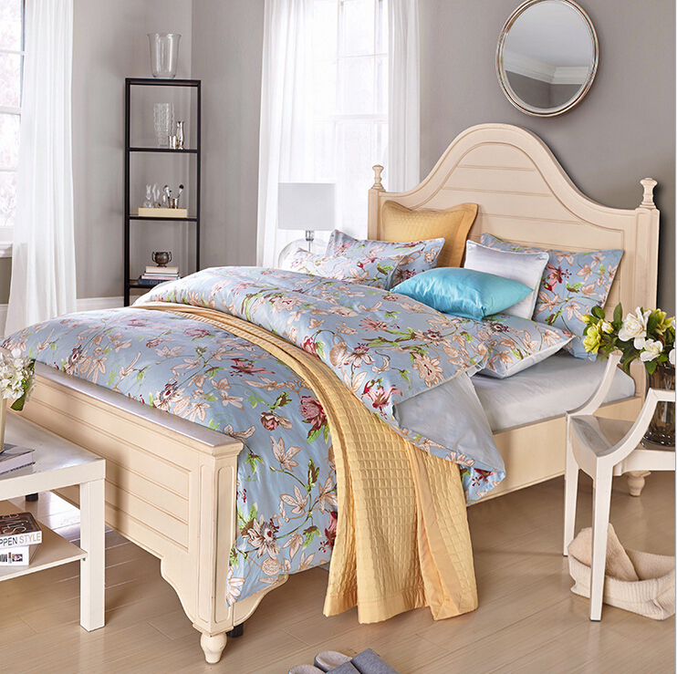 Save 61% Egyptian Cotton 100% european bedding sets Satin 4 Piece Vintage Satin Silk King Queen Full Twin Size Bed Linen(China (Mainland))