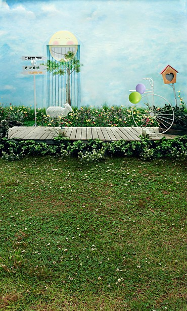 Здесь можно купить  New arrival Background fundo Smiley wheelbarrow plant 300CM*200CM(about 10ft*6.5ft) width backgrounds LK 2244  Бытовая электроника