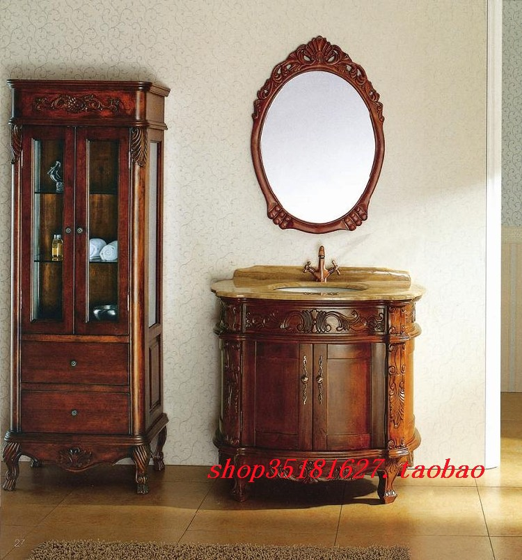 Customize Fashion Bathroom Cabinet Oak Antique Cabinet