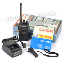 Black Two-Way Radio BF-888S BaoFeng UHF Single Band 5W 16CH Walkie Talkie CTCSS CDCSS 6km+Battery