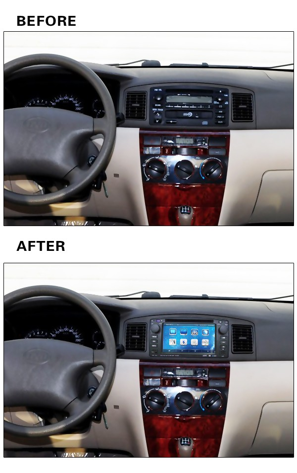 Rom 16 G Quad Core Android 5.1 Fit BYD F3 Toyota Corolla E120 2003 2004 2005 2006 Car dvd player GPS radio DVD head unit TV 3G(China (Mainland))