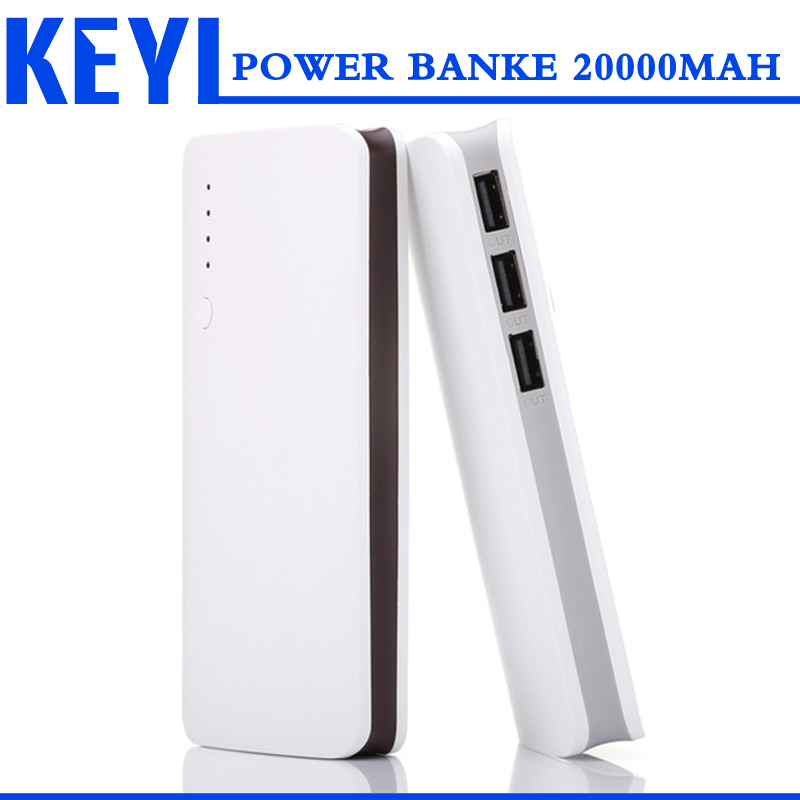 NEW 3 USB for xiaomi Power bank 20000mah powerbank backup Power Bank 18650 external battery bank power bank 20000 mah(China (Mainland))