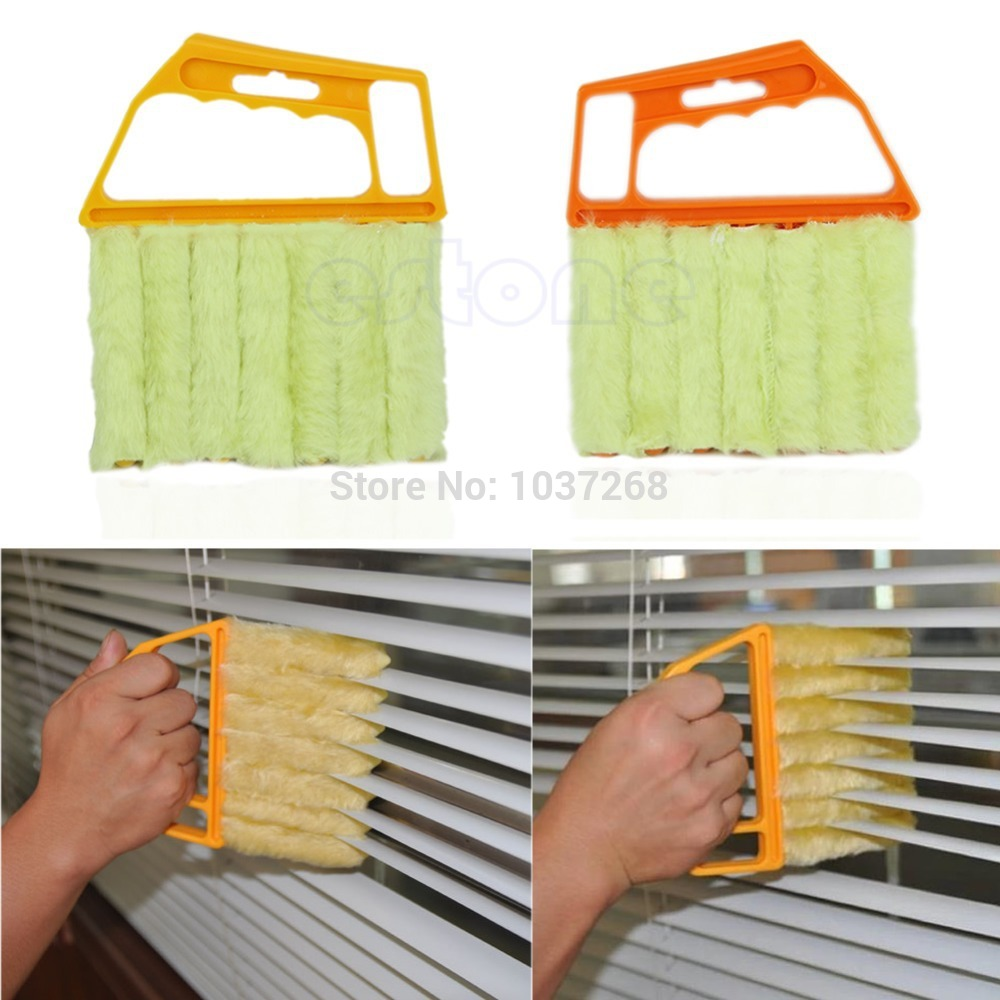 S111 Free Shipping 1 PC Microfibre Venetian Blind Brush Window Air Conditioner Duster Clean Cleaner(China (Mainland))