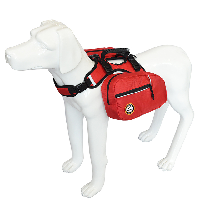 Dog Harness Backpack Reflective Saddlebag