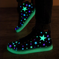 Spring Unisex Fashion Star Printed Glowing Canvas LED Shoes High Top Luminous Lighted Shoes Tenis Feminino