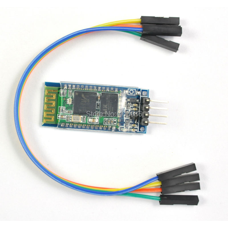 Wireless Serial 4 Pin RF Transceiver Bluetooth Module HC-06 RS232 with Cable 3.6V-6V for Arduino UNO(China (Mainland))