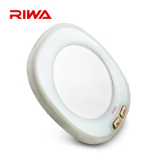 Riwa Brand Makeup Mirror White Color Women's Cosmetic Mirror With Led Lights Lady's Mini Mirror easy to carry(China (Mainland))