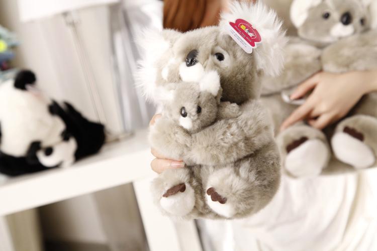 stuffed animal 23 cm koala bear hugged baby koala plush toy soft doll gift w2405(China (Mainland))