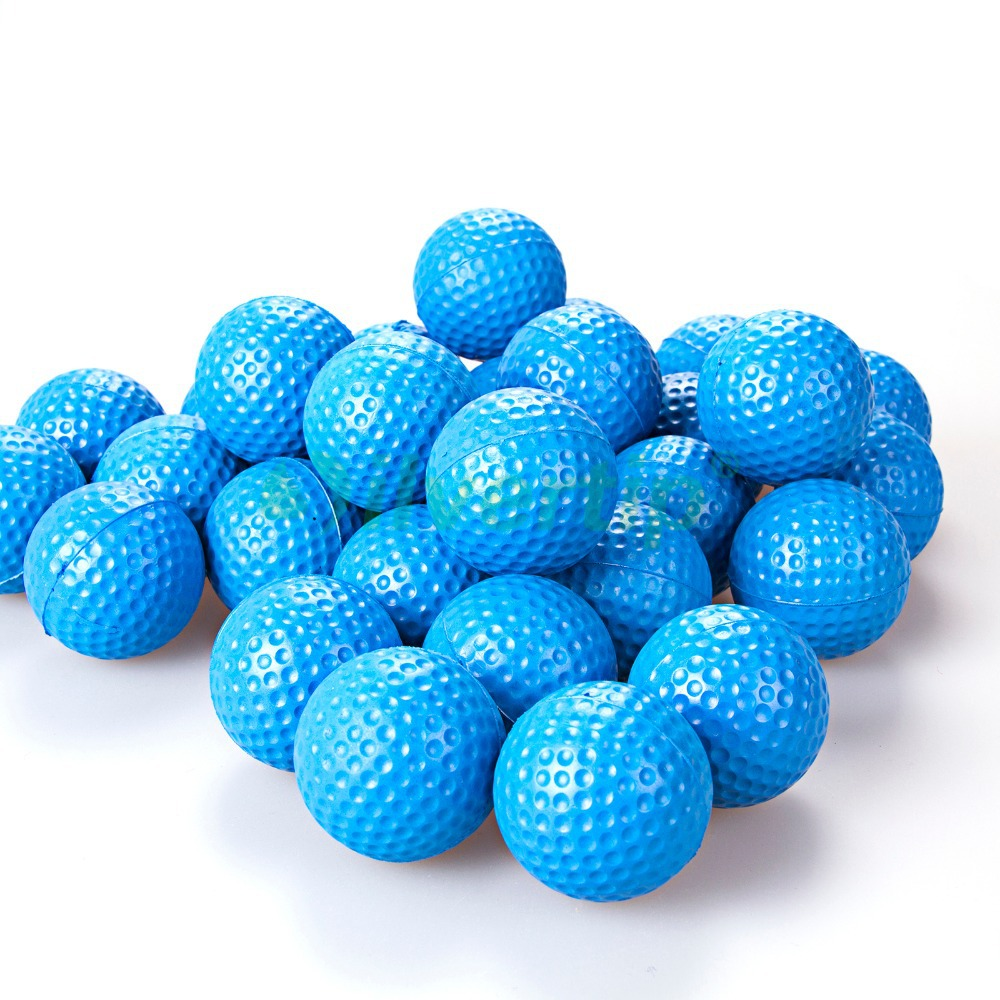 Free Shipping New 30 Pack Blue PU Foam Golf Ball Sponge Pet Balls Indoor Practice Training(China (Mainland))