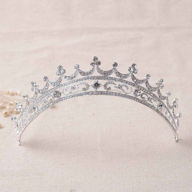 1PCS/lot Silver Rhinestone Bridal Tiara Wedding Tiara Crystal Bridal Pageant Prom Hair Piece Jewellry Ornaments(China (Mainland))