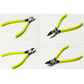 5 Inch Yellow Chrome Vanadium Alloy Steel Diagonal Pliers Hardware Outlet Clamp Pliers Oblique Nose Electronic