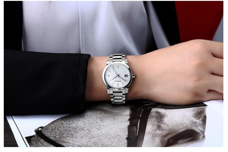 2016 Новый Ochstin Роскошные Женские Часы Из Нержавеющей Стали Кварцевые Часы Часы Дамы Моды Случайные Платье Часы Relógio Feminino