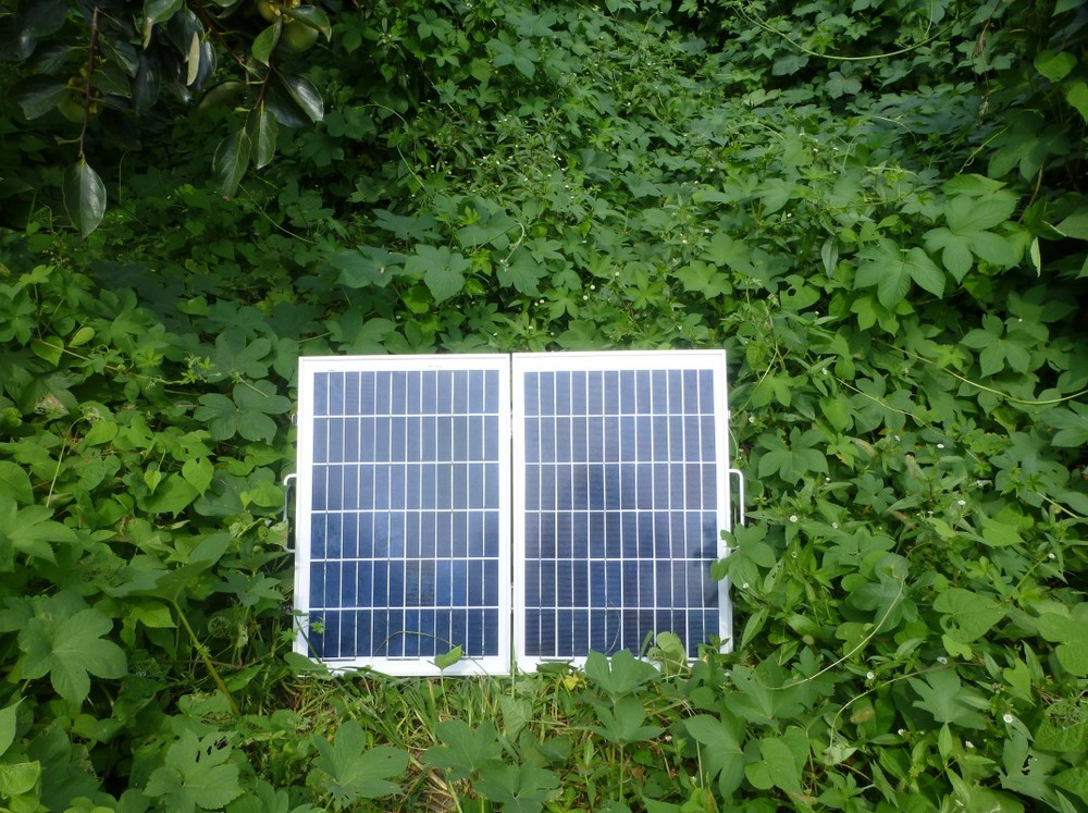 40W foldable solar panel efficiency solar cells small 12V and 24V battery charging system(China (Mainland))