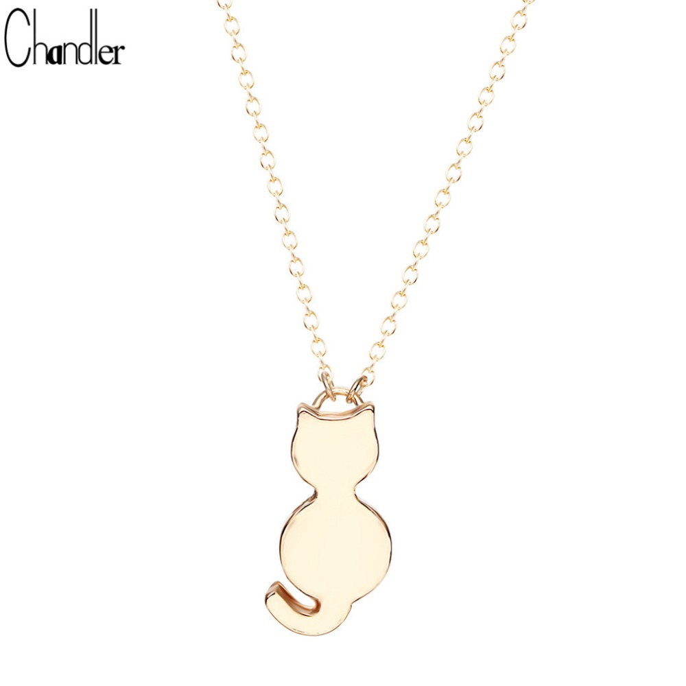Silver Plated Cute Cat Kitty Miaow Pendant Necklaces For Women Girls Long Chain Minimalist Brand Fine Jewelry Love Gifts(China (Mainland))