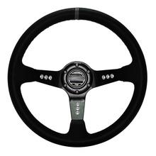 14 » 350 MM Car styling volant dérive volant cuir noir 9-hole cadre en aluminium direction