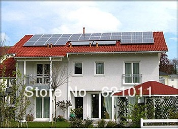 5kW on grid solar energy system, home  grid tie solar power system includes 5000w solar modules and 5kw on grid inverter