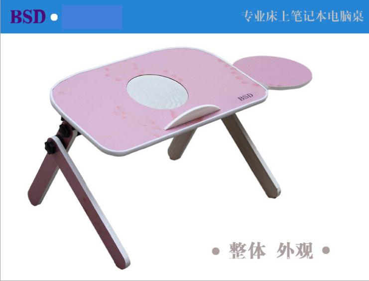 Bed lift folding computer desk mount bed radiator base laptop table with fan(China (Mainland))