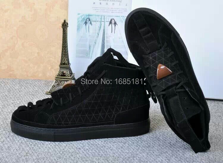 2016 Patrick Mohr casual shoes leather high leisure highest quality black fashion Men Shoes  -  direct sale store