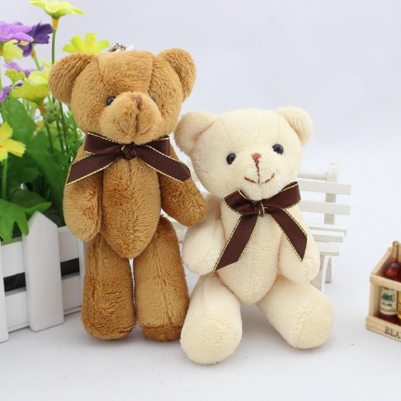 2pcs/lot Kid Toys Tsum Tsum Plush Doll Reborn 11cm Mini Super Kawaii Teddy Bear Animal Stuffed Plush Dolls Bouquet Decor(China (Mainland))