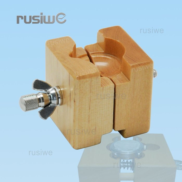 Wooden Watch Case Vise Mens & Ladies Watch Movement Clamp Holder Watch Battery Replacement Tool Watchmakers Repair Tool(China (Mainland))