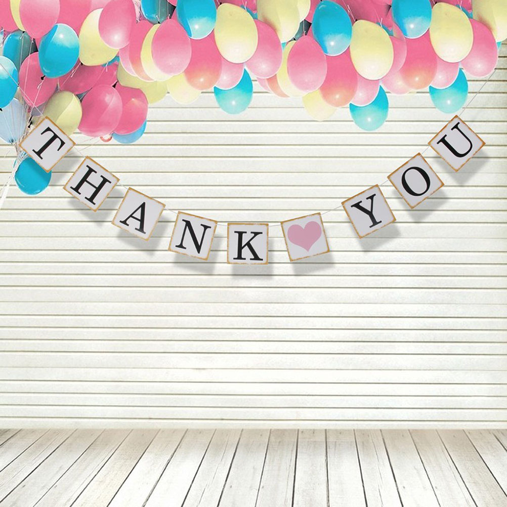 1 Set Wedding Party Buntings Banner Thank you Letters Garland Thanksgiving Party room Decoration Supplies(China (Mainland))