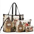 Free Shipping Flowerbeige Women's Handbag 2013 Peones Vintage