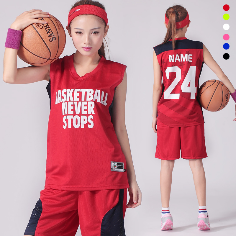 Women's Basketball Suit Team training Summer Clothes Student Uniforms Custom DIY Print Name Number Logo(China (Mainland))