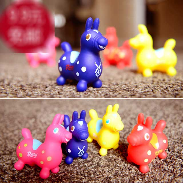 wholesale Japanese bulks jammy rody funny cute horse Pool kids water splashing bath swimming toys for children brinquedo(China (Mainland))