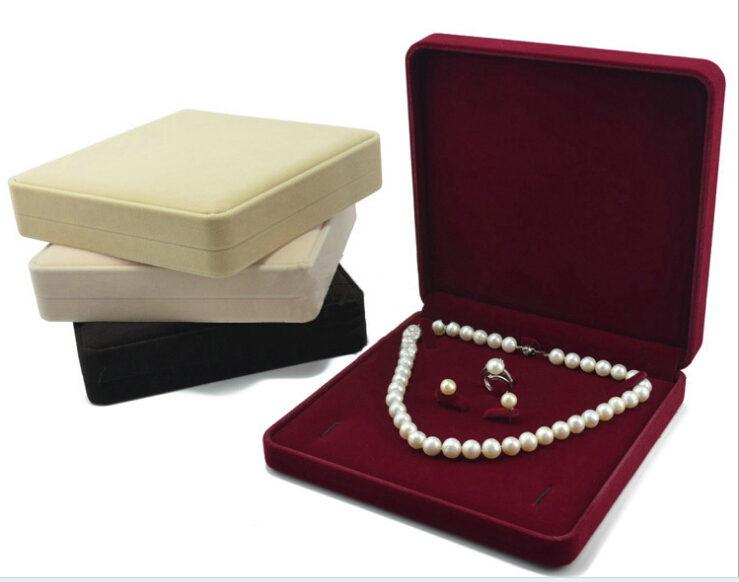 velvet jewelry set box gift box mixed color, sold per bag of 2 pcs(China (Mainland))