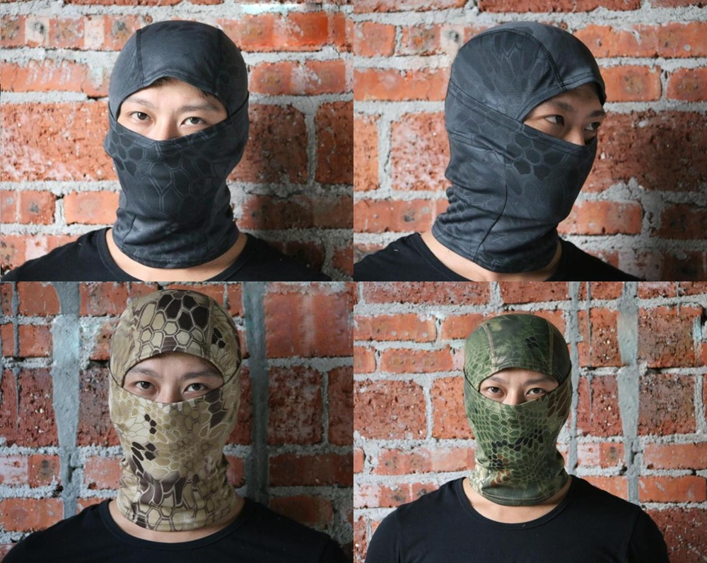 Motorcycle Cycling Neck Outdoor Camo Balaclava Protection Full Face Mask Hat Cap Helmet Hot(China (Mainland))