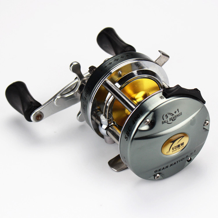 6BB 5.3:1 Left Hand Baitcasting Reels Drum Shape Fishing Reel Carretilha Pesca Ocean Saltwater Boat Trolling Fishing<br><br>Aliexpress