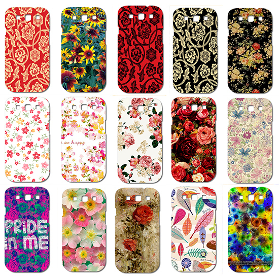 Colorful Flower Print Protective Mobile Phone Hard Case Cover For Samsung S3 I9300 Galaxy SIII Shipping Free(China (Mainland))