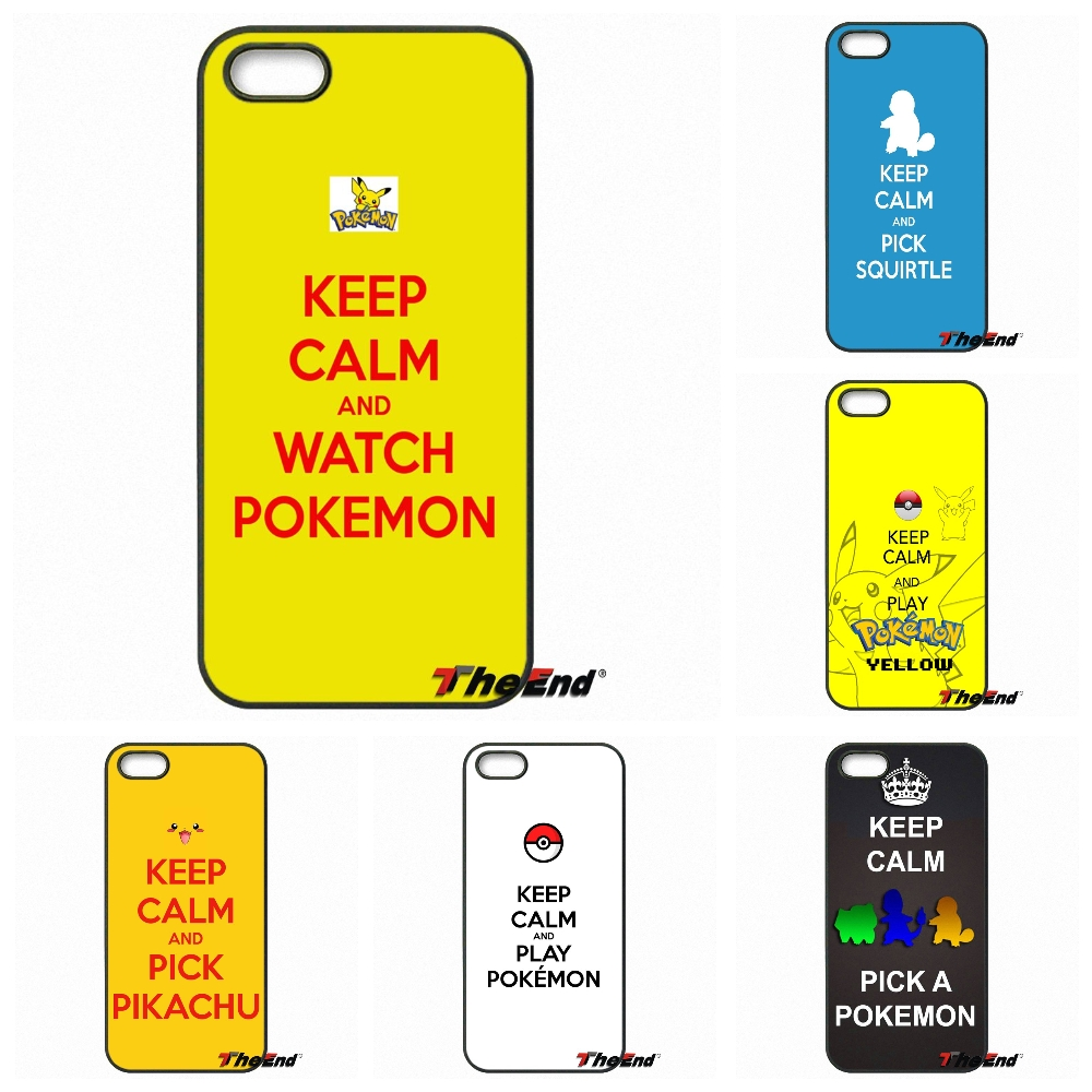 For iPhone 4 4S 5 5C SE 6 6S 7 Plus Samsung Galaxy Grand Core Prime Alpha Keep Calm And Pick A Pokemon Print Hard Phone Case(China (Mainland))