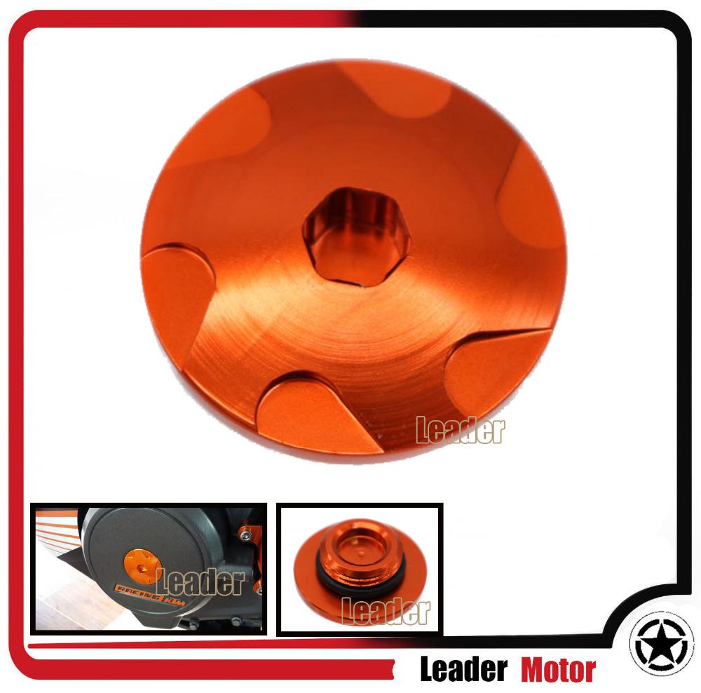 Hot Sale Motorcycle Accessories Aluminum For KTM DUKE 200/390 Aluminum Car Engine Cover Camshaft Plug Orange(China (Mainland))
