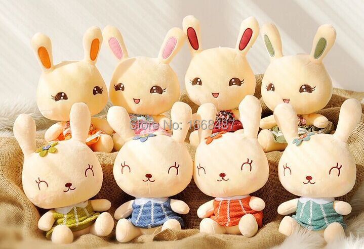 26cm rabbit easter bunny plush toy rabbit stuffed animal doll best gift for girl(China (Mainland))