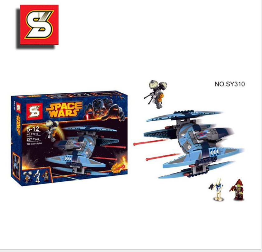 SY310 STAR WARS Vulture Droid Buzz & Pilot Battle Droid Neimoidian Warrior Minifigure Building Block Lego Compatible(China (Mainland))
