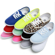 Lady candy color flat shoes with non-slip cow muscle casual shoes new women shoes multicolor canvas shoes  Large size 35 – 42