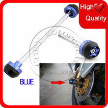 Для BMW R1200RT / GS / R передний мост крушение ползунки Cap синий мотоцикл падение защита
