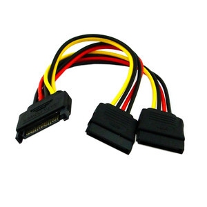 SATA 15pin Hard Disk Power Male to 2 Female Splitter Y 1 to 2 Extension Cable(China (Mainland))