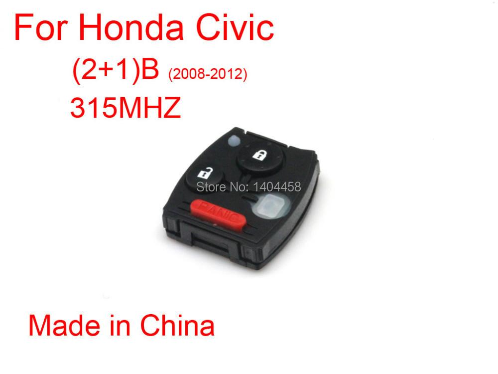 Buy for honda civic 2008 2012 remote 315 for Where are honda civics made