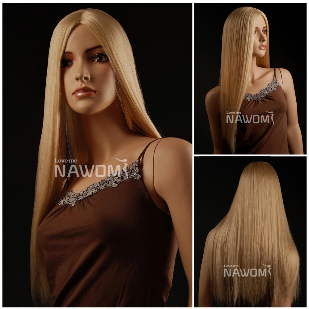 New 2015 100% Kanekalon long Straight Blonde Hair Wigs Women Supernova Sale - Nawomi store