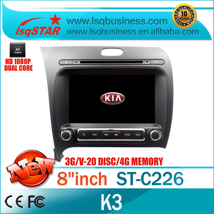 Wholesalers/Manufacture/Factory/OEM/Supplier car dvd for Kia K3 with GPS/BT/ATV/RADIO/DVD/3G/SD/IPOD/20dis CDC/File management(China (Mainland))