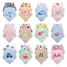 DANROL 100% cotton baby clothing boys girls waterproof infant baby bibs towel ldren cravat Saliva Burp Cloths babador de bebe