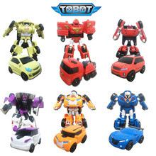 Cool anime toys Robot Korea Car Transformation Toys Kids Cartoon Robot Action Figure Mobel Christmas Gift For Children
