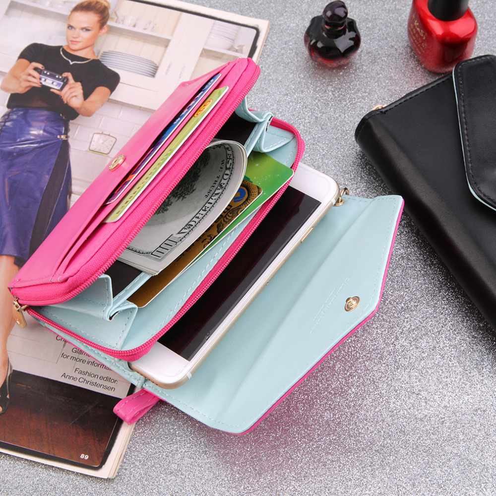 Multifunction Women Wristlet Wallets Coin Case Purse For Cell Phone Wallet Gift Billete Monedero Mujer Hot Selling(China (Mainland))