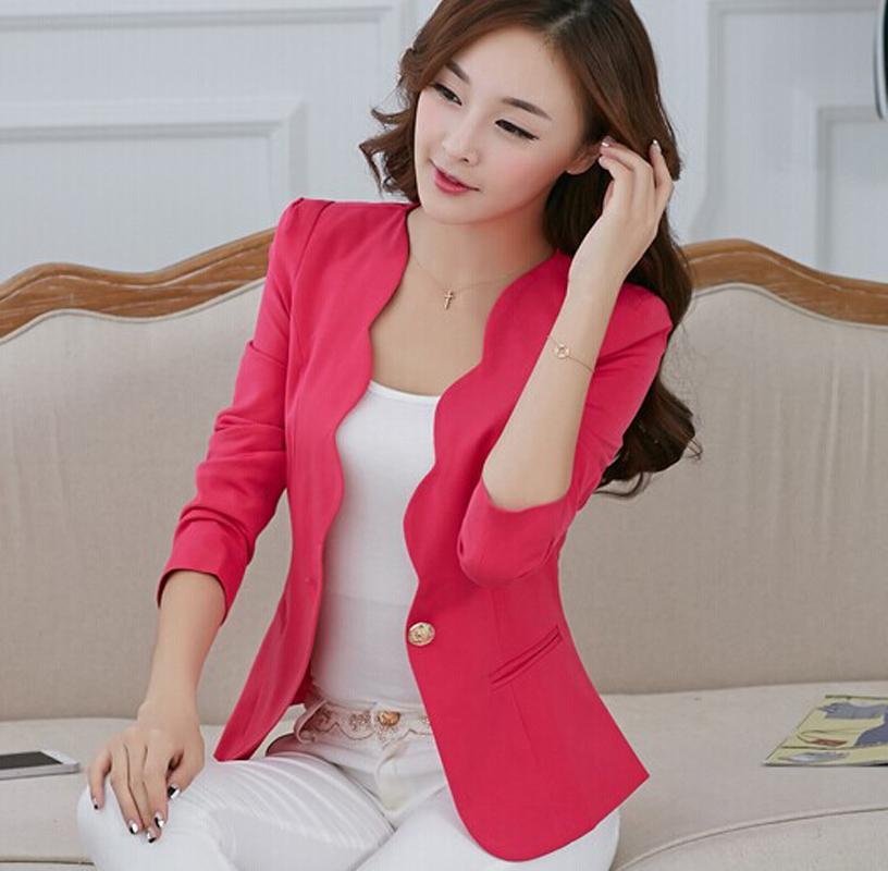Blazer Women 2015 New Spring Fashion Trend Slim Thin Elegant One Button Flouncing Girls Blazers And Jackets Feminino Coat BL026(China (Mainland))