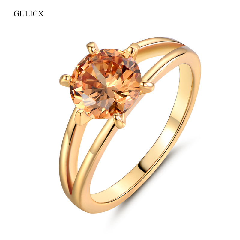 Gulicx 2016 Fashion Finger Promise Ring Gold Plated Finger
