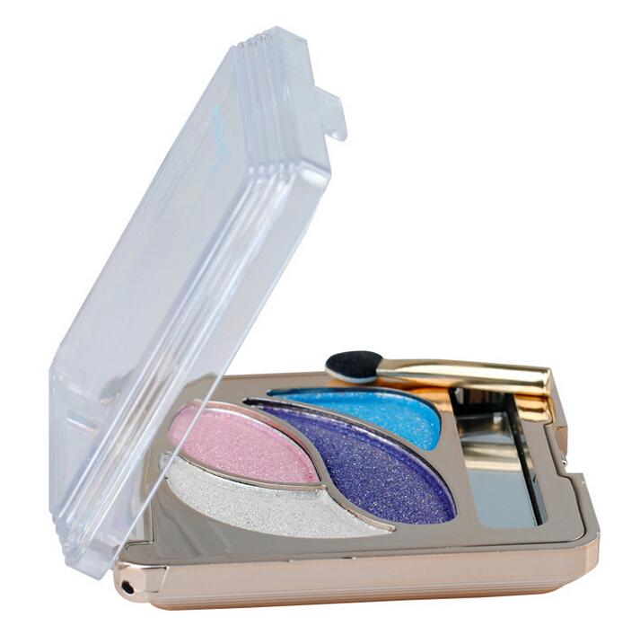 4 Color Glitter Matte Eye Shadow, Eyeshadow Professional Makeup Tools Shining Eye Cosmetic Eyebrow Enhancers Shadow Maquiagem(China (Mainland))
