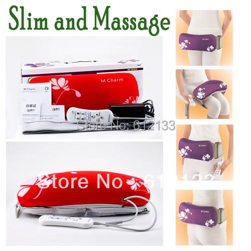 Electric Slim Massage Twin Power Tummy Butt Thigh Waist Kneading oscillation Vibration(China (Mainland))